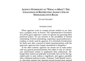 "Recensioni. Agency Oversight as ""Whac-a-Mole"""