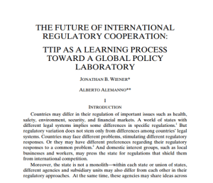 Recensioni. The Future of international regulatory cooperation