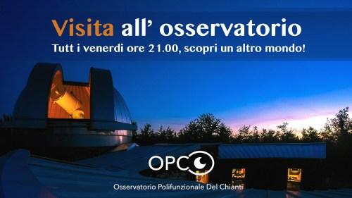Visita all' osservatorio, osservazione ai telescopi e visita guidata al telescopio più grande della toscana!