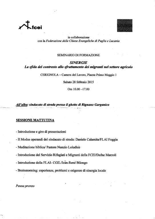 Seminario Cerignola 28 febb