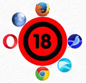 BetaBrowserTest 18: Firefox 55 Chrome 58 Opera 45 SeaMonkey 2.51 Pale Moon 27.1.2 QupZilla 2.1.1
