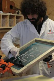 ossocubo logo screen printing