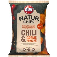 OLW NATUR CHIPS CHILI & CREAM FRAICHE 150 G
