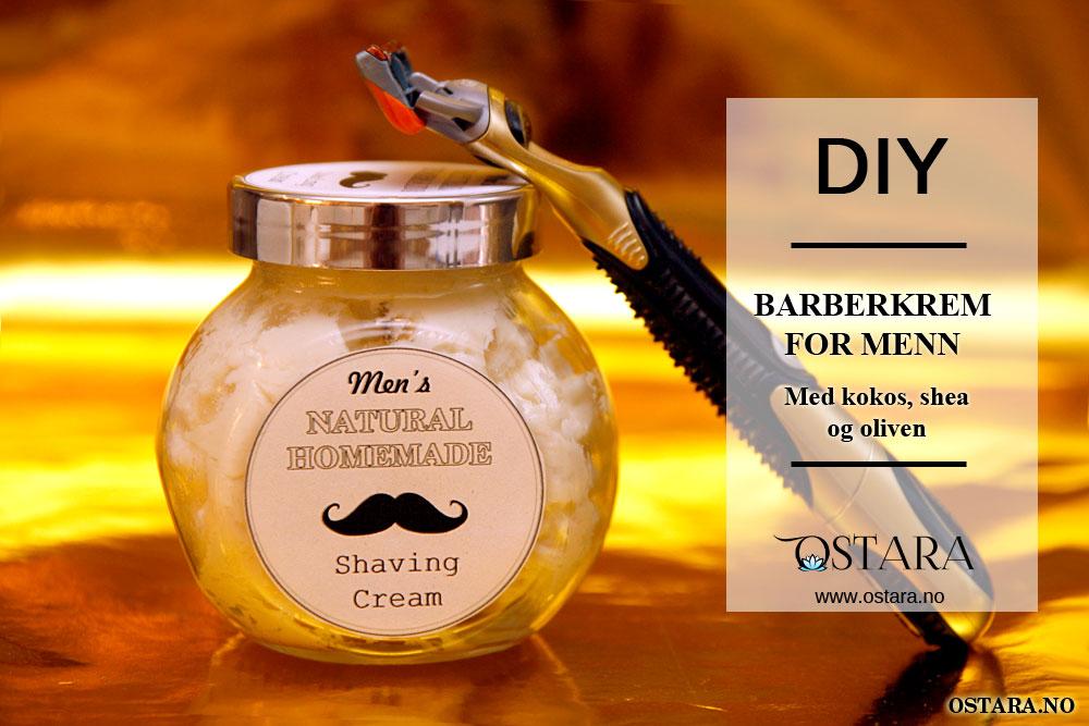 DIY: Shaving Cream til menn (med utskriftsvennlig etikett)