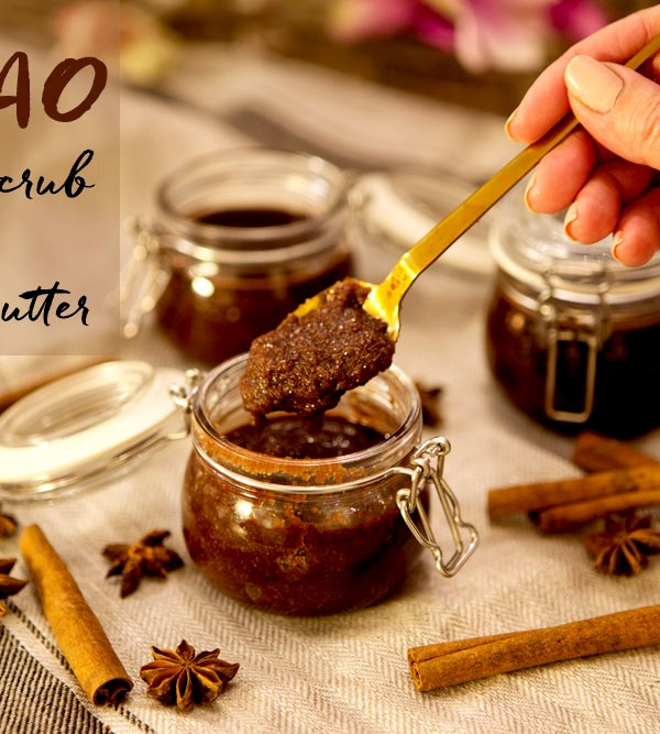 Hjemmelaget sukkerskrubb med kakao