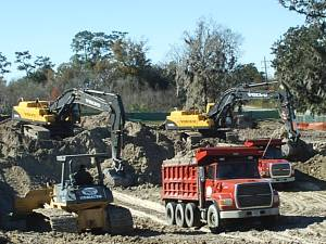 Construction Site Work - Land Clearing Services