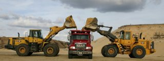 Archer Sand Pit with Loaders and Dump Truck