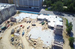 The Nine apartment community construction project