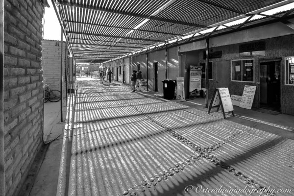 Busstation in San Pedro de Atacama (Chile),colored version