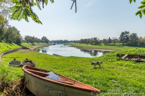 Along the Kupa river in Sisak (Croatia)