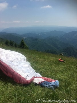 My first paragliding adventure:).