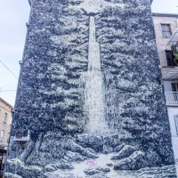The City Waterfall by Miron Milic
