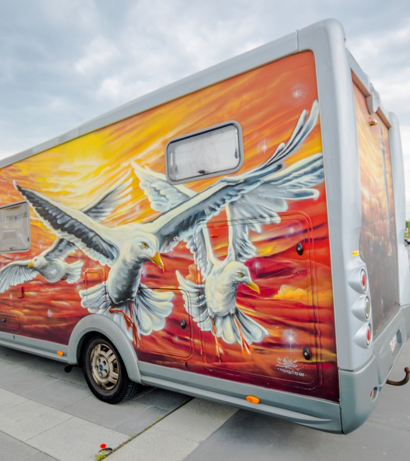 A Painted Motorhome by Siegfried Vynck