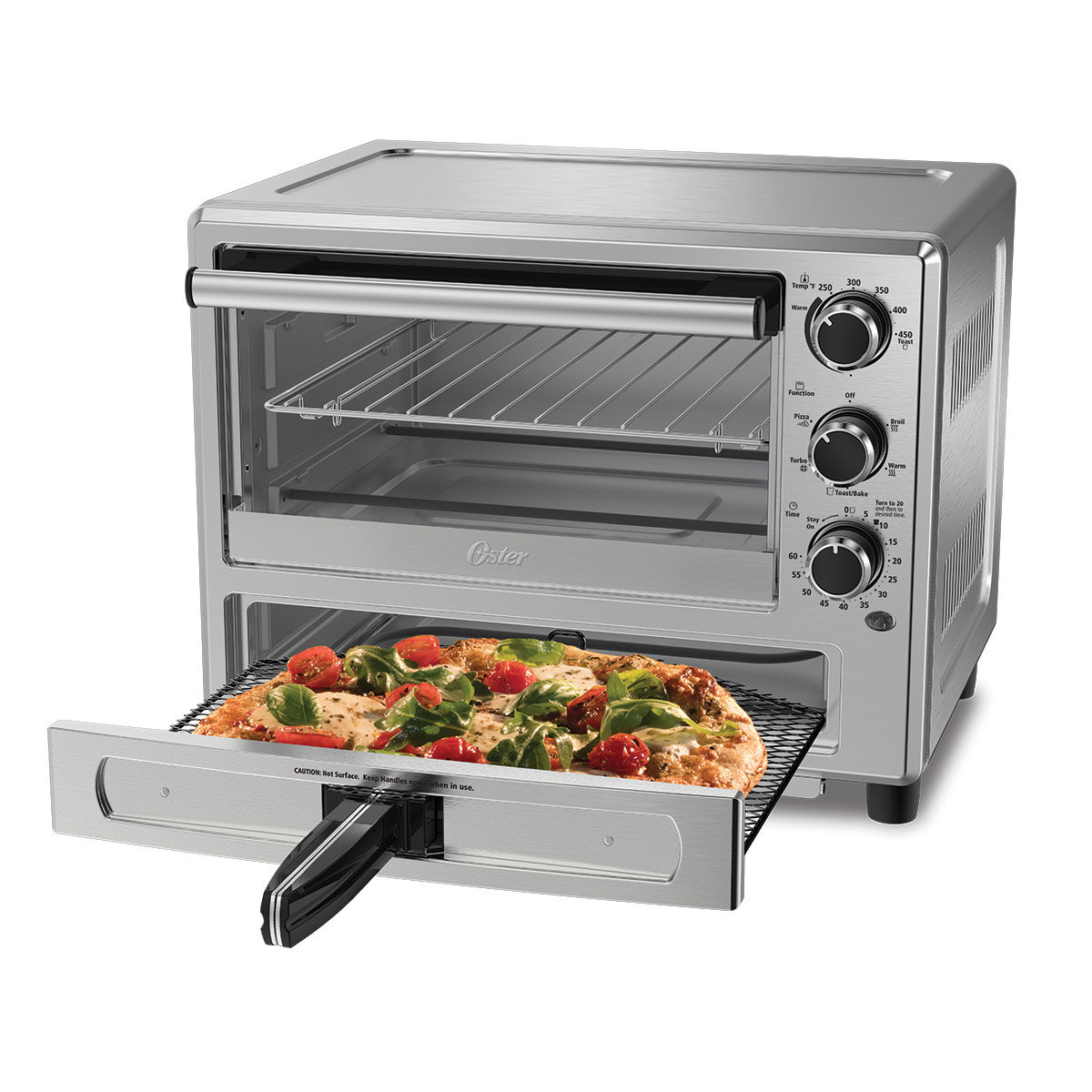 oster stainless steel convection oven with pizza drawer