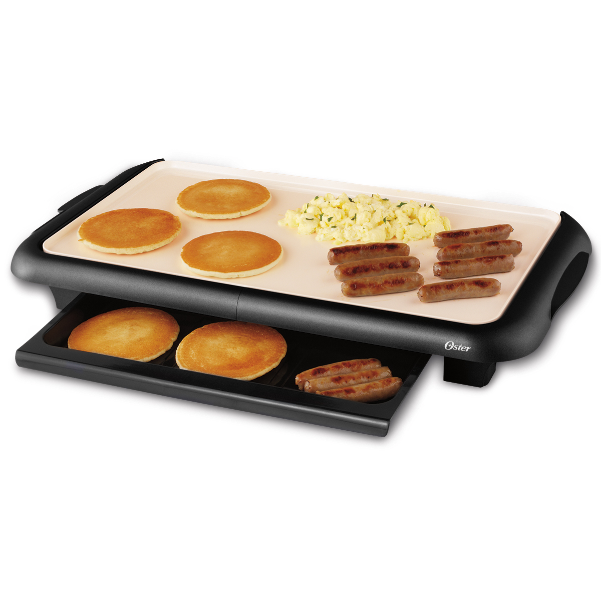 "Oster® Titanium Infused DuraCeramic™ 10"" x 18.5"" Griddle w/ Warming Tray by Oster"