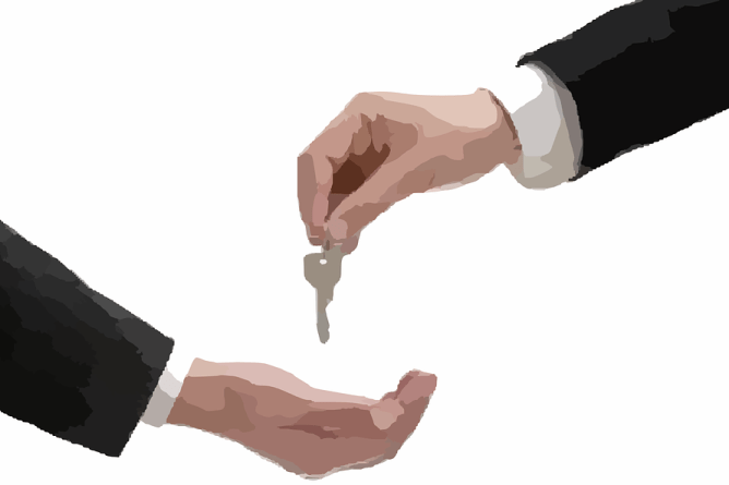 hand over a key
