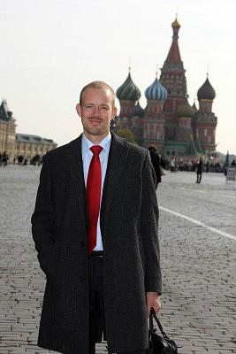 In Moskau: Philipp Rowe