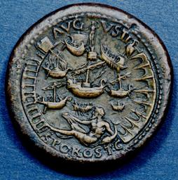 Portus on a coin of Nero