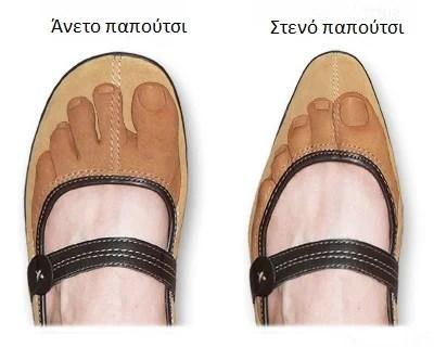 σωστό παπούτσι