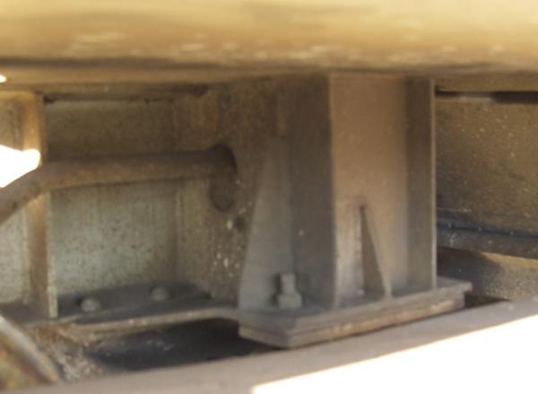 Bolster pedestal detail, Trinity 5850 covered hopper