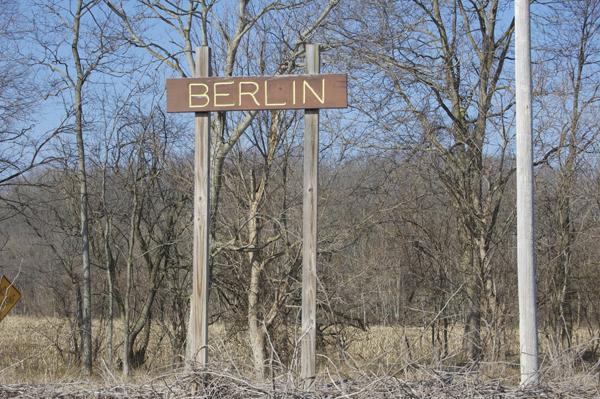 Sign designating the Berlin Locks