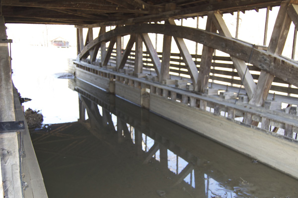 Interior structure of Duck Creek Aqueduct