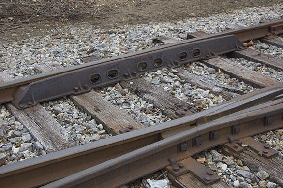 Cast steel guard rail.