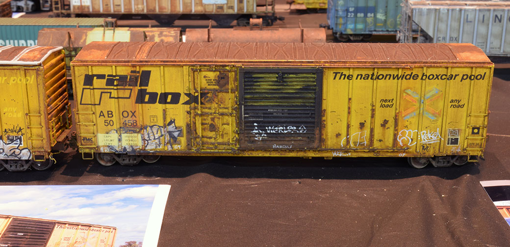 Weathered box car by Butch Eyler
