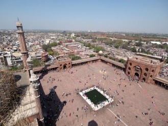 from the minaret