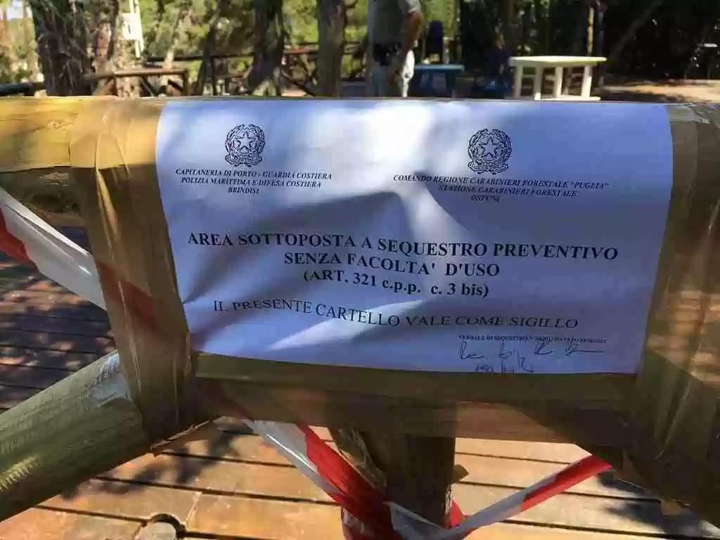 Sequestro Lido Rosa Marina Ostuni 5