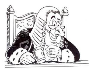 caricature of a judge