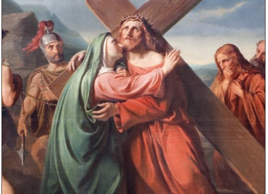 Mary - Jesus carrying Cross