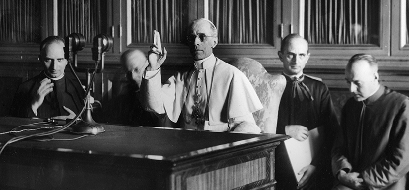 POPE PIUS XII GIVES RADIO MESSAGE DURING WORLD WAR II