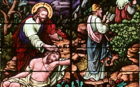 STAINED-GLASS WINDOW GOOD SAMARITAN