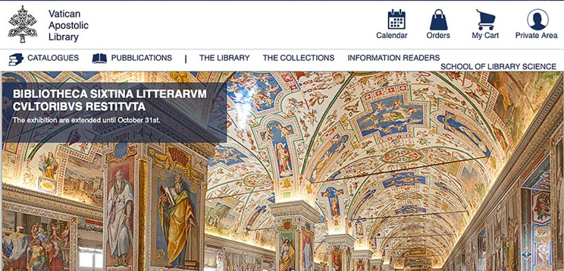 VATICAN LIBRARY WEBSITE