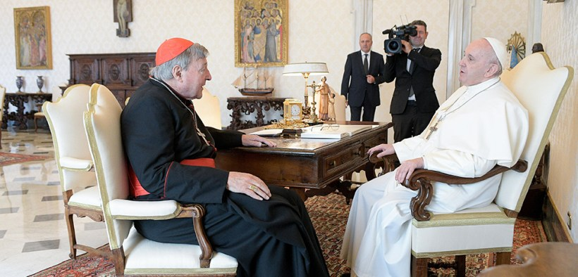 POPE AUDIENCE CARDINAL PELL