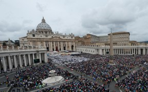 Pope Francis celebrates canonization Mass of Sts. John XXIII and John Paul II in St. Peter's Square at Vatican