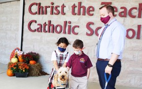 CATHOLIC SCHOOL THERAPY DOG