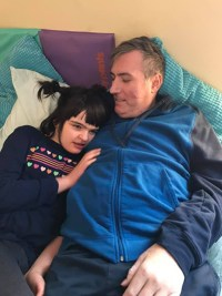 Jason Shanks and daughter