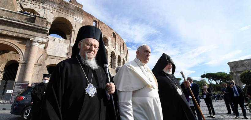 POPE MEETING COLOSSEUM PEACE