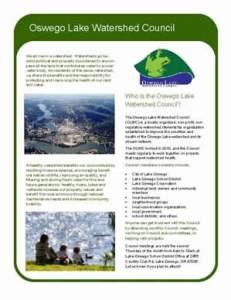 Oswego Lake Watershed Council Fact Sheet