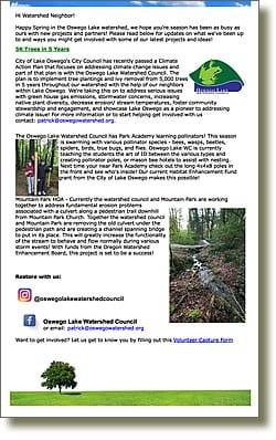 Spring 2018 OLWC Newsletter