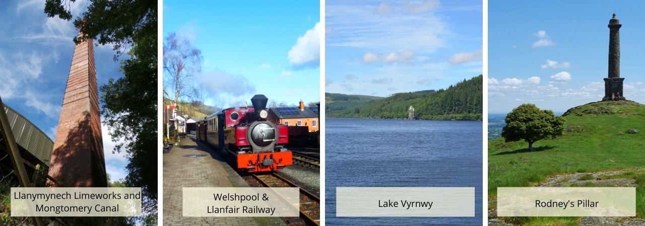 Oswestry, Welshpool, Lake Vyrnwy