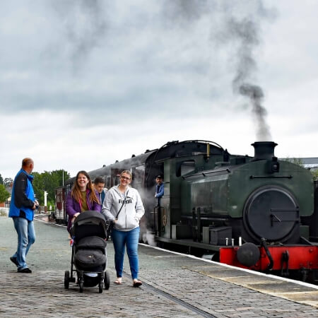 Take a steam train ride at Oswestry