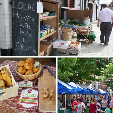 Oswestry markets and shops