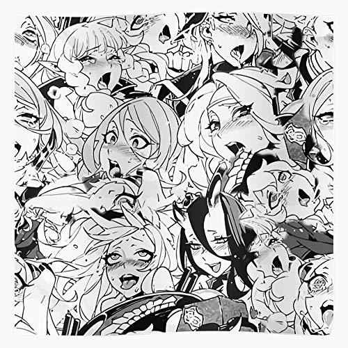 Anime Ecchi Waifu Sleeve Ahegao Otaku Wandkunst Kunstdruck