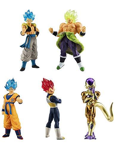 Dragon Dragonball Komplett-Set 5 Figuren Collection Broly Movie 01 Bandai Gashapon Son Goku SSGSS Ve