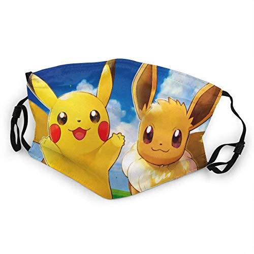 Los geht's Pikachu Mundschutz Anti-Staub Waschbar Wiederverwendbarer Mundschutz Modedesign für Kind