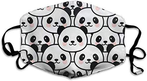 Staubdicht, waschbar, wiederverwendbar, süßer Panda-Mundschutz, schützt vor Keimen, warm, Winddic