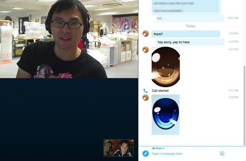 Random video chat with Danny Choo.